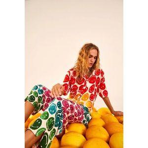 RARE Farm Rio Rainbow Smiley Jumpsuit